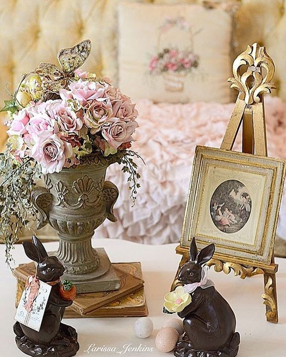 Gorgeous Easter and spring decorating ideas for shabby chic and French Country decor