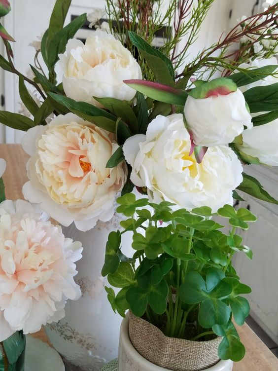 Amazing realistic faux peonies