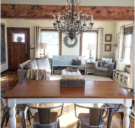 farm table farmhouse chandelier junklovesisters