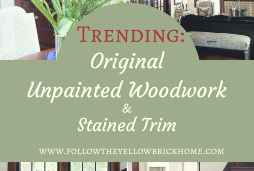 trending woodwork stained trim