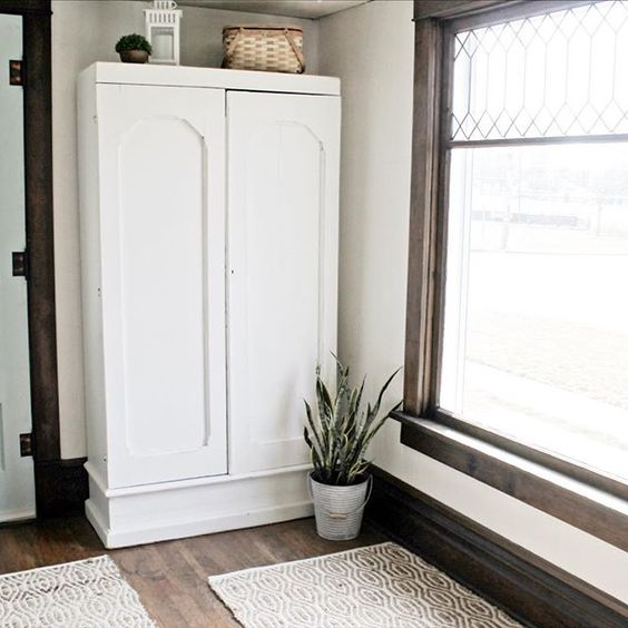 thedefineryco farmhouse stained woodwork