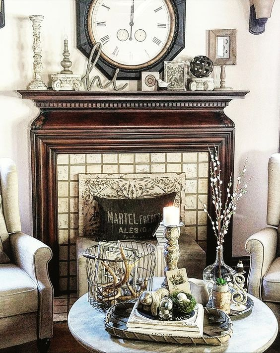 restoration hardware inspired living room decor