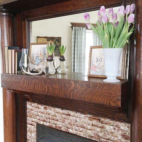 fireplace mantel woodwork unpainted woodwork original fireplace homegrown surroundings