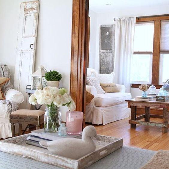 The Rustic Life farmhouse chic original unpainted woodwork stained woodwork dark trim unpainted trim