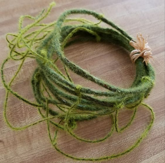 Wreath making craft supplies moss garland for wreaths and flower arrangements