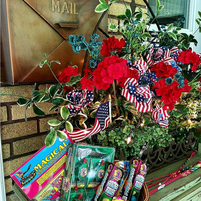 Festive Fireworks in Longeberger basket Patriotic Decor