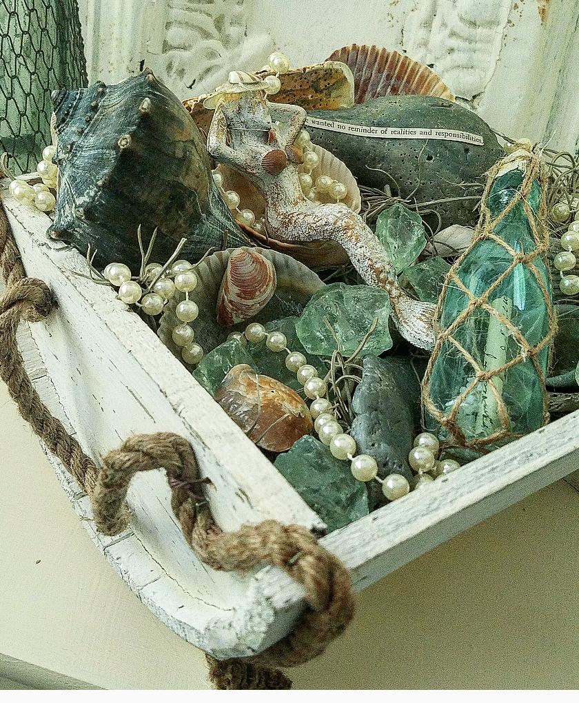 How to make a mermaid garden using found objects beach keepsakes