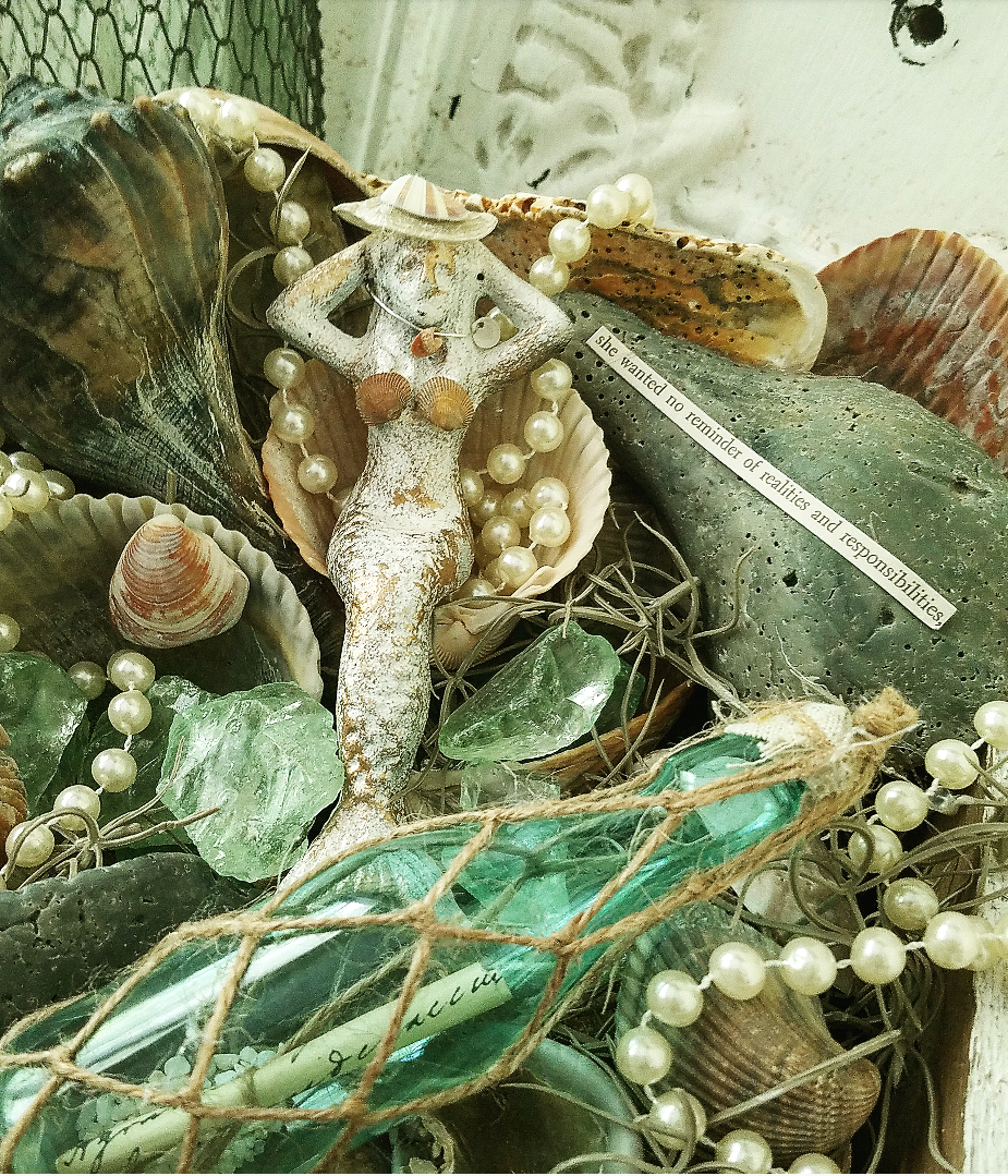 Creative Beach Keepsakes Mermaid Cove Mermaid Garden Shabby Chic Nautical Decor Ideas