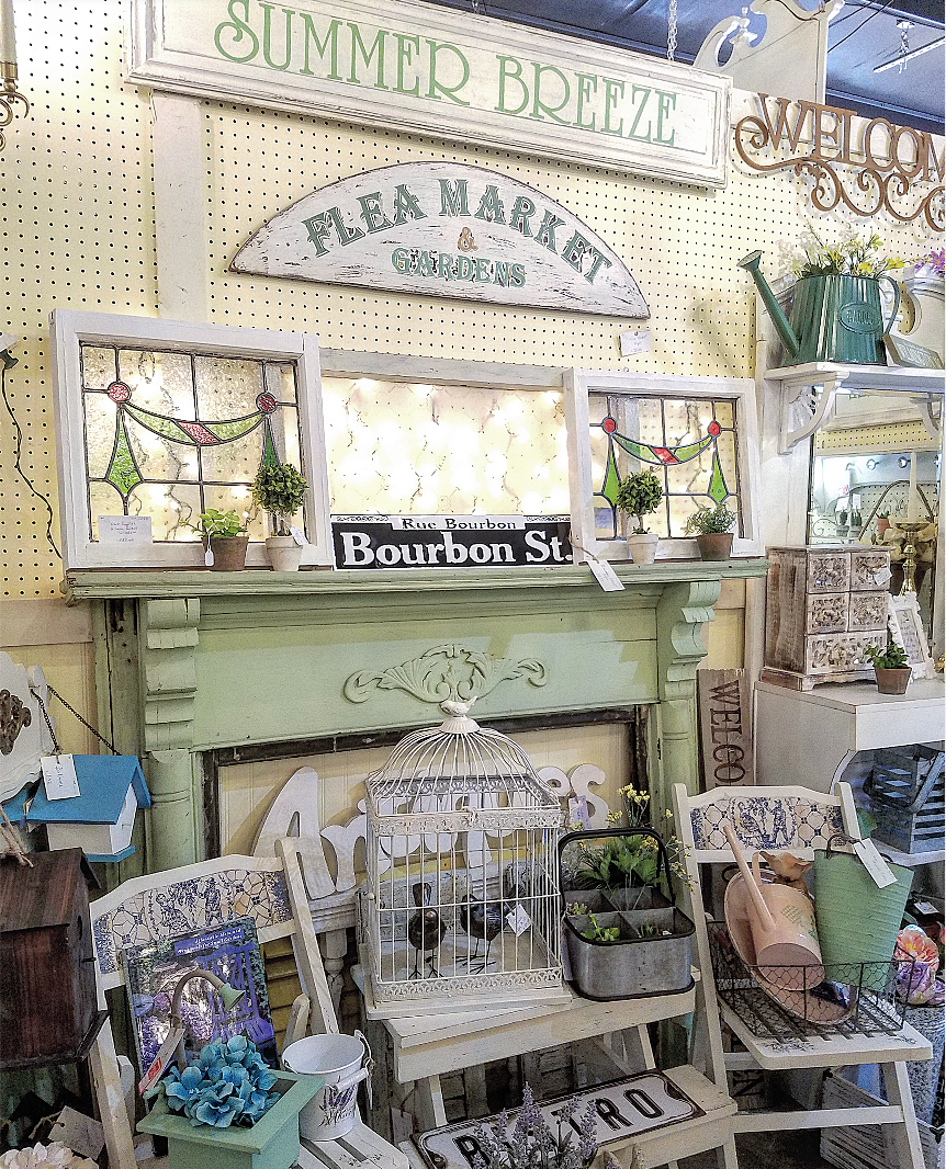 French Country Shabby Chic Garden style booth Vintage Marketplace