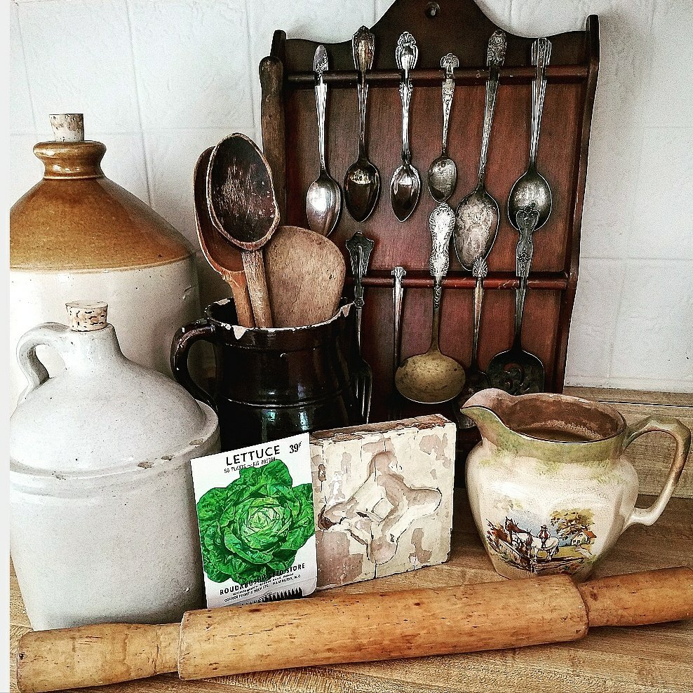 Amazing collection of vintage country farmhouse finds Crocks antiques