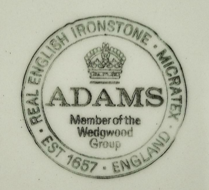 Adams Real English Ironstone Micratex Wedgwood Group Empress