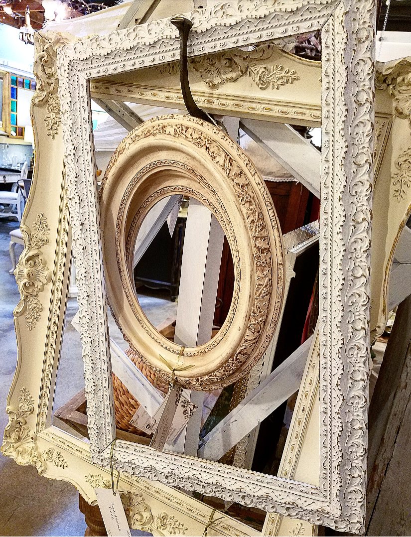 Beautiful antique chalk painted picture frames