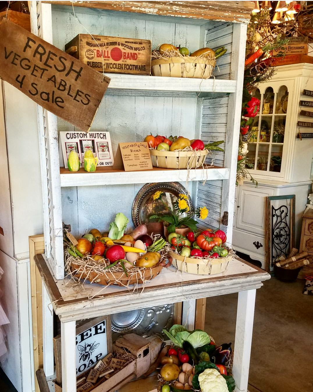 Repurposed shutters cabinet farmhouse style kitchen cabinet