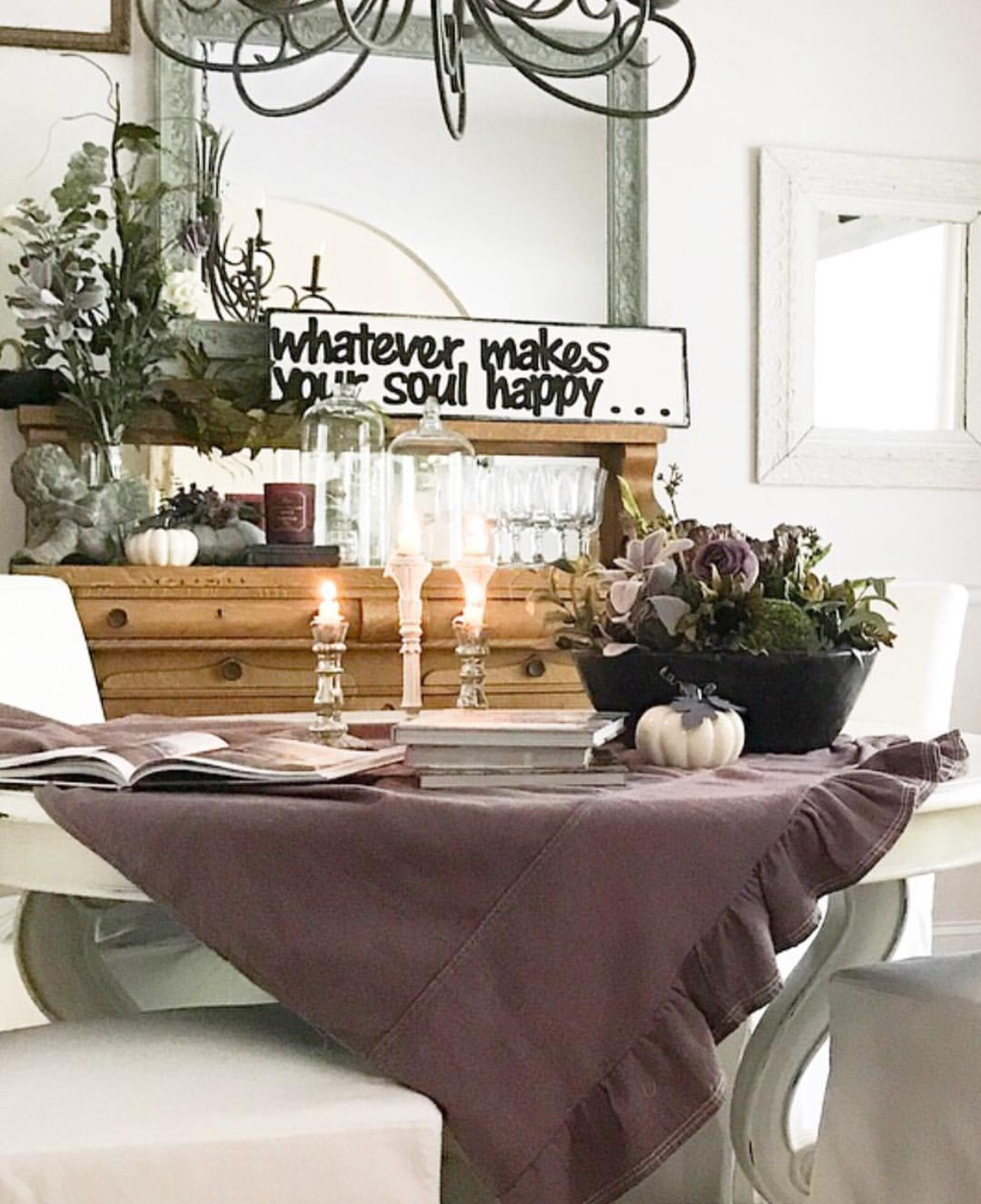 Stunning moody fall decor farmhouse style fall French Country purple fall decor