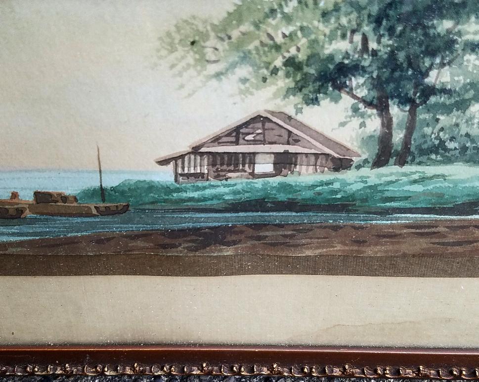 beautiful antique nautical painting