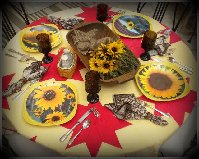 Fall tablescape sunflowers