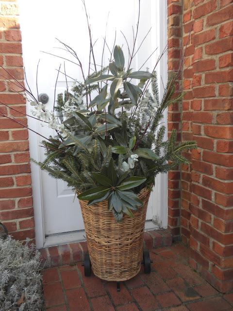 Beautiful natural fall winter basket