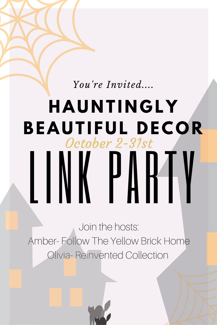 Hauntingly Beautiful Decor Halloween Link Party October 2-31