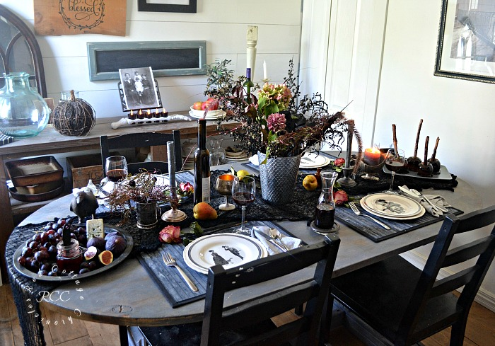 Gorgeous Moody Halloween Tablescape