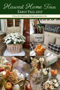 Beautiful fall home tour at followtheyellowbrickhome.com