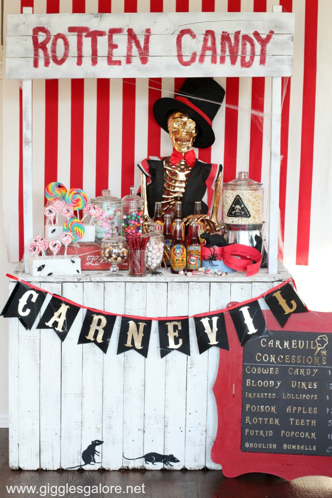 Cool and Colorful Halloween Candy Station Party Idea