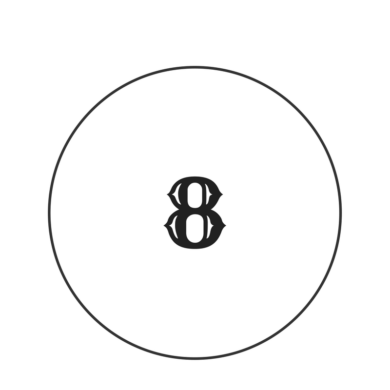 number 8 graphic