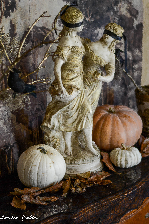 Beautiful and Elegant French Halloween Buffet