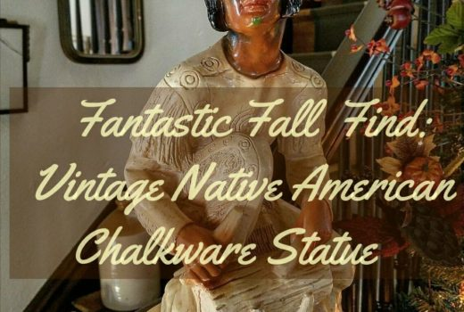 Stunning Vintage Native American Indian Chalkware Statue Vintage