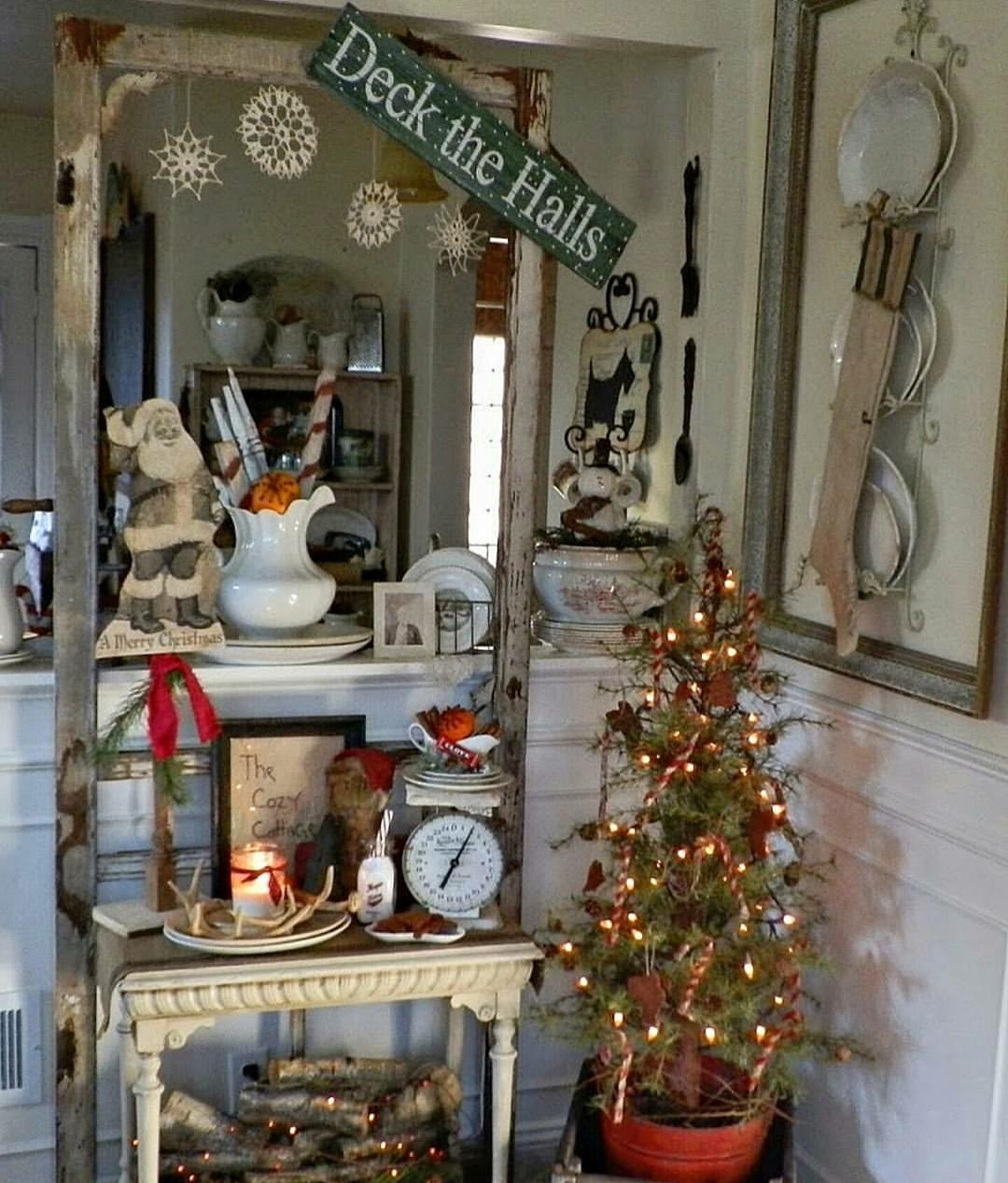 farmhouse christmas corner