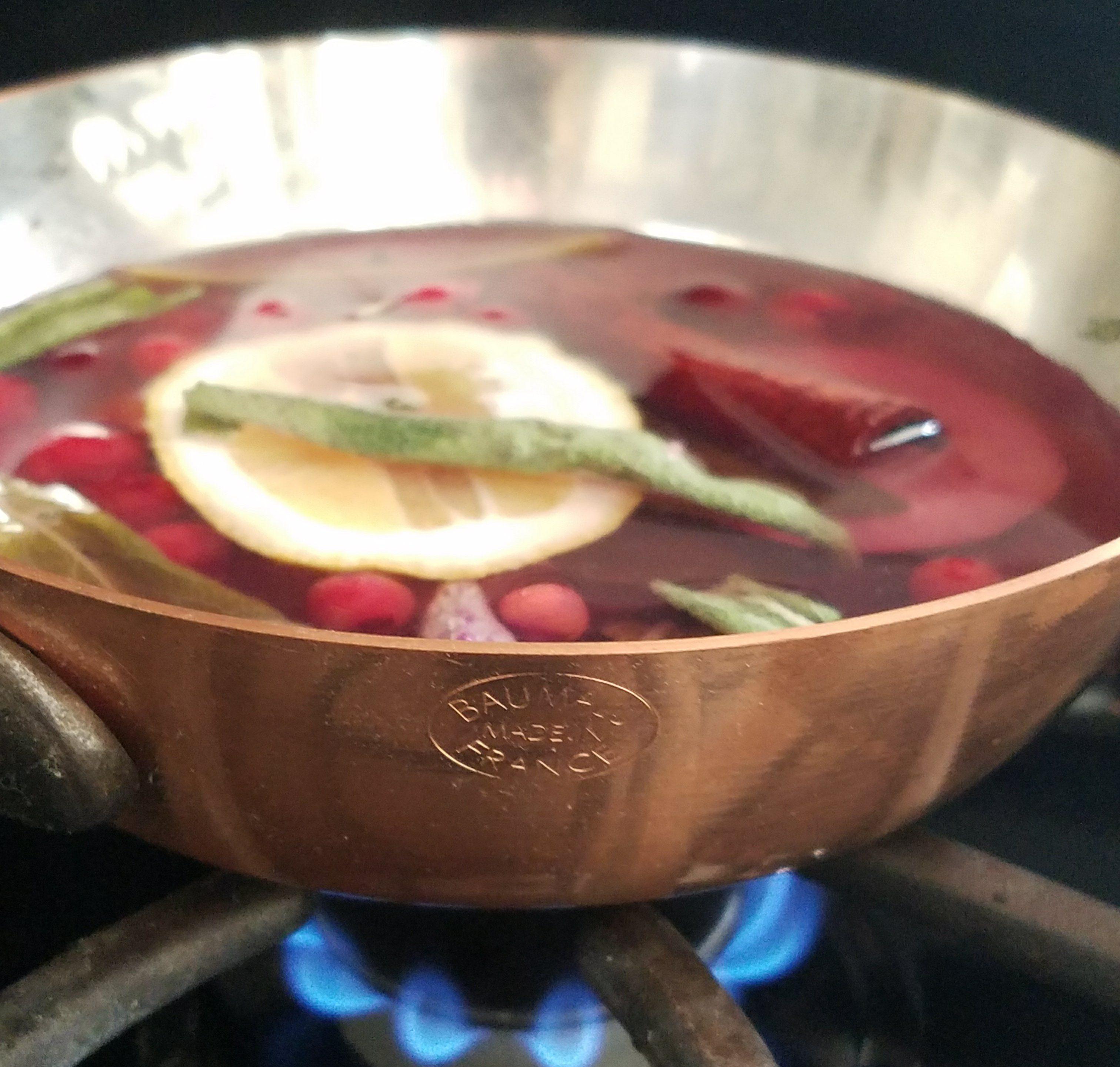 Cranberry, sage, bay, cinnamon simmer potpourri