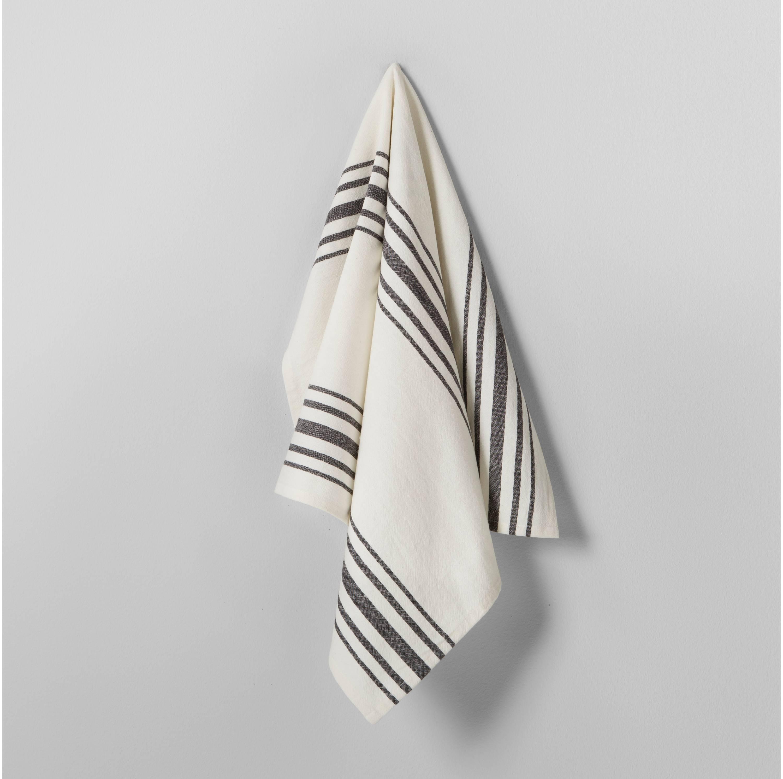 Black and white Grain stripe kitchen towel Magnolia Hearth & Hand Target
