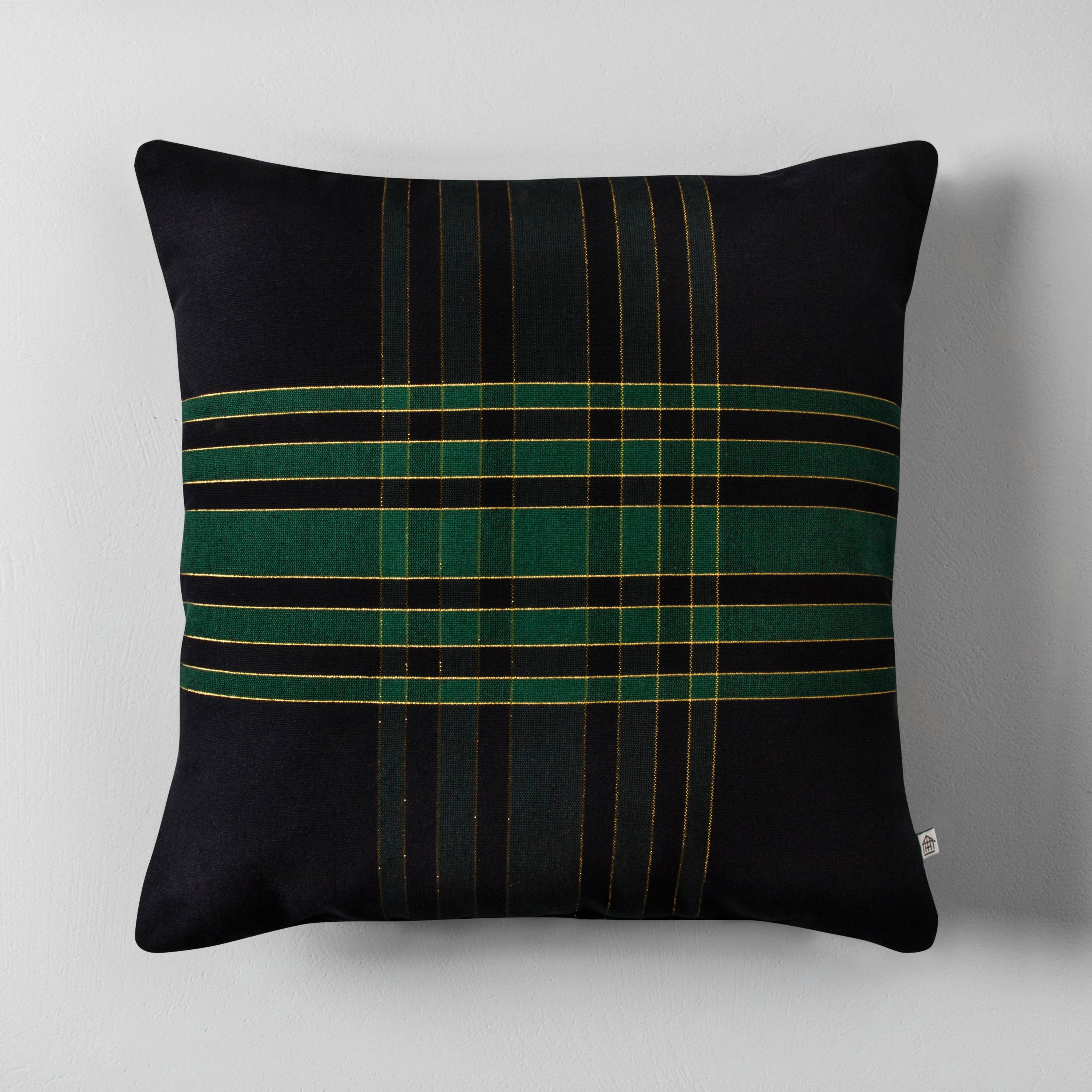 Gorgeous green, black and plaid gold pillow by Joanna Gaines Hearth and Hand Target
