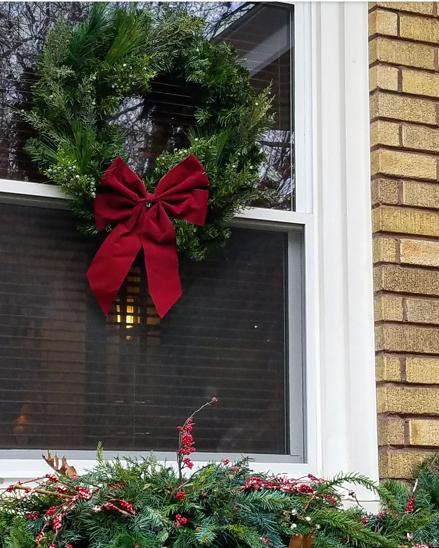 Realistic Faux Christmas Wreath for windows and doors