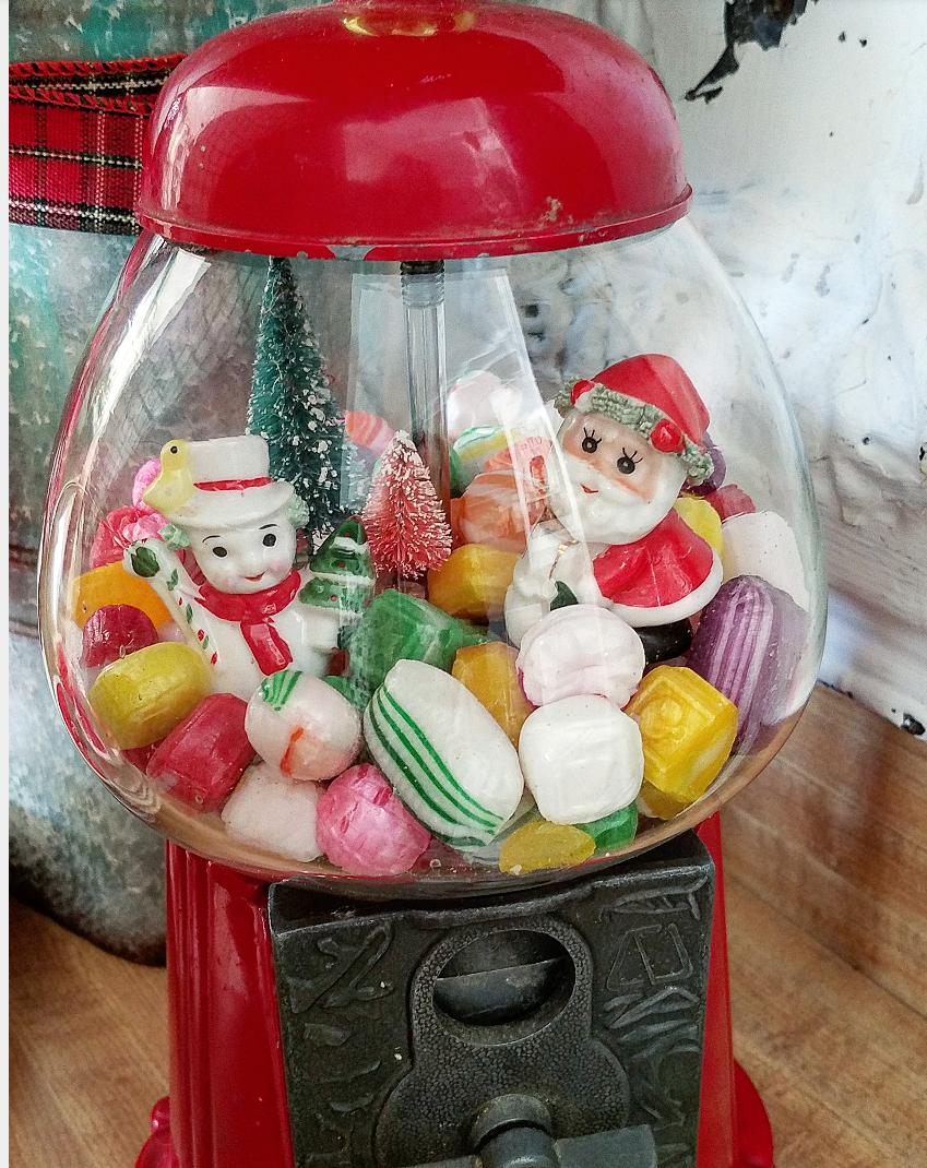 Gumball Christmas cloche