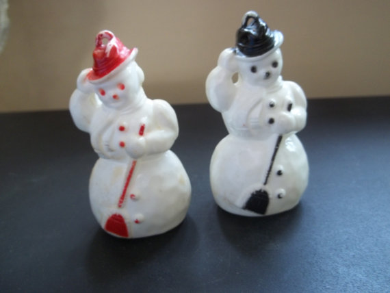 Vintage Celluloid snowman Snowmen