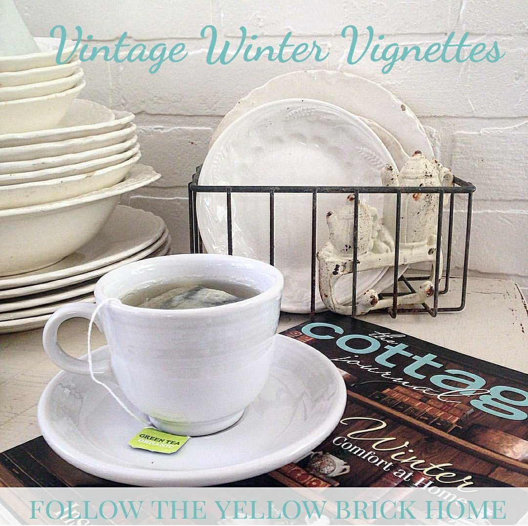 Ideas for creating vintage winter vignettes