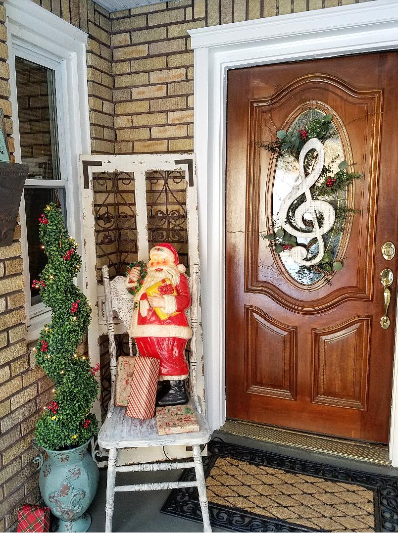 Festive Christmas front porch