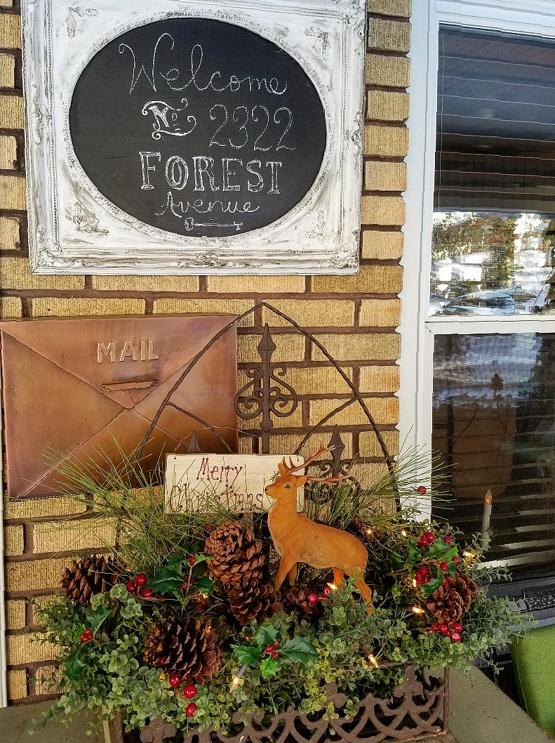 Christmas home tour 2017 front porch