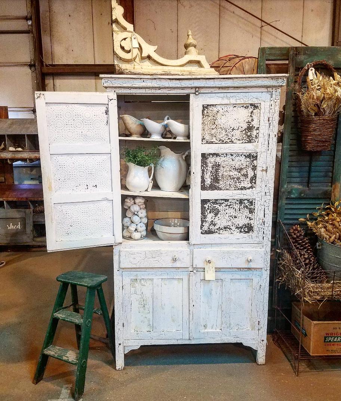 Beatiful antique cupboard pie safe shabby chic farmhouse Vintage Market Days