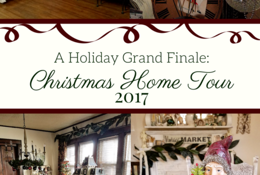 A stunning historic home decorated for Christmas with traditional and vintage style