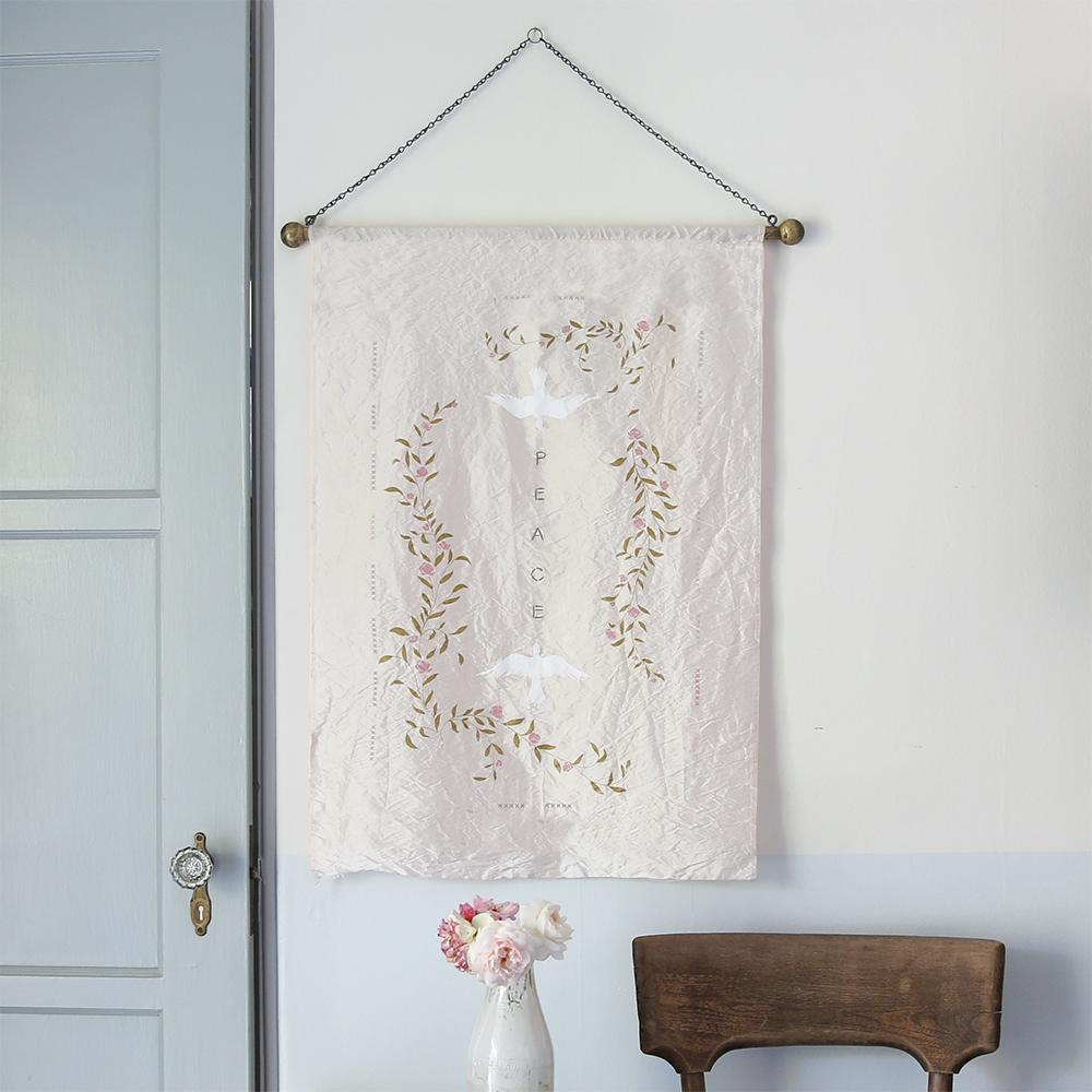 Gorgeous vintage style Peace Wall hanging by Rachel Ashwell