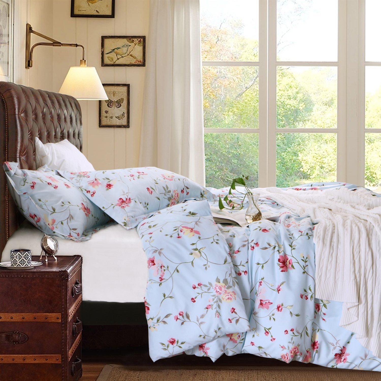 Gorgeous Floral Bedding Blue duvet cover bedspread
