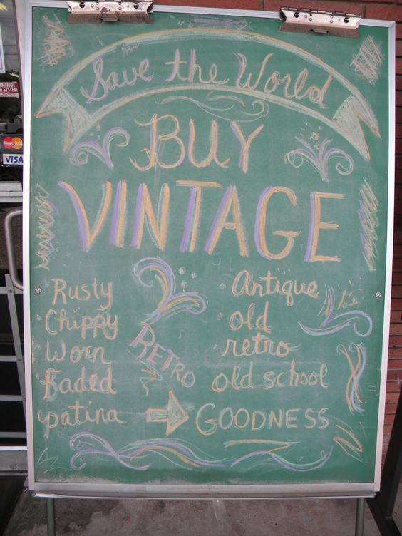 Cute Buy Vintage Chalkboard Idea