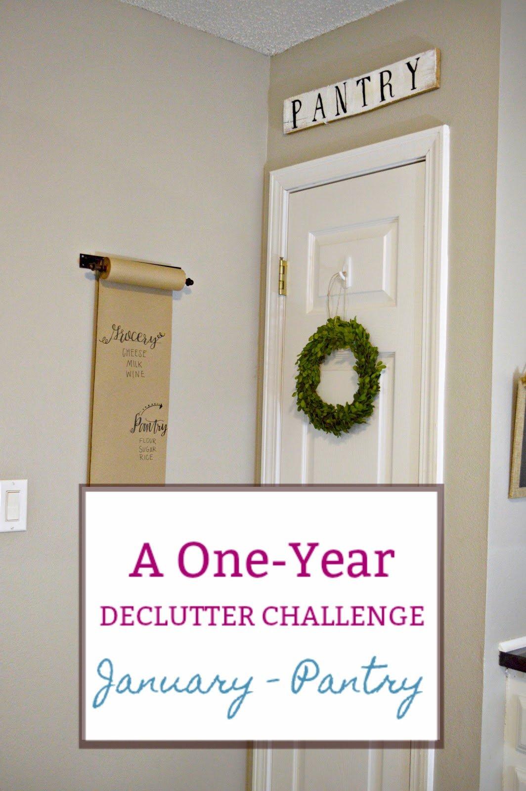 Organization ideas Declutter Challenge