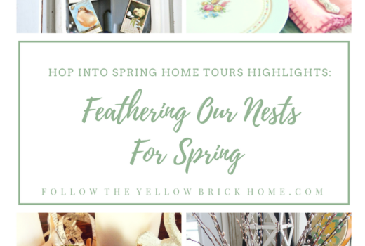 Decorating for springs with birds, nests and bird themed decor