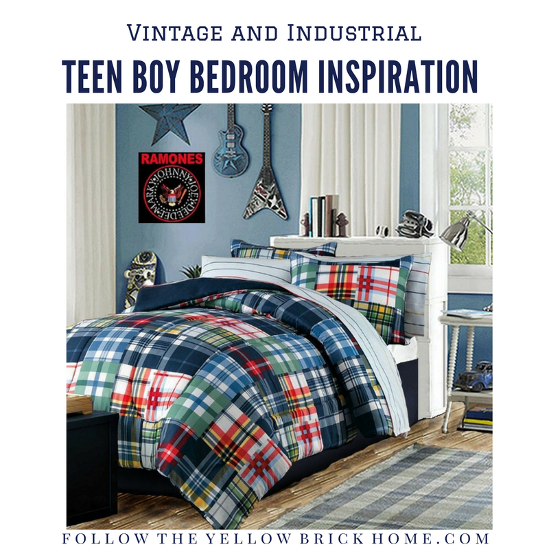 Follow The Yellow Brick Home - Teen Boy Bedroom Makeover ...