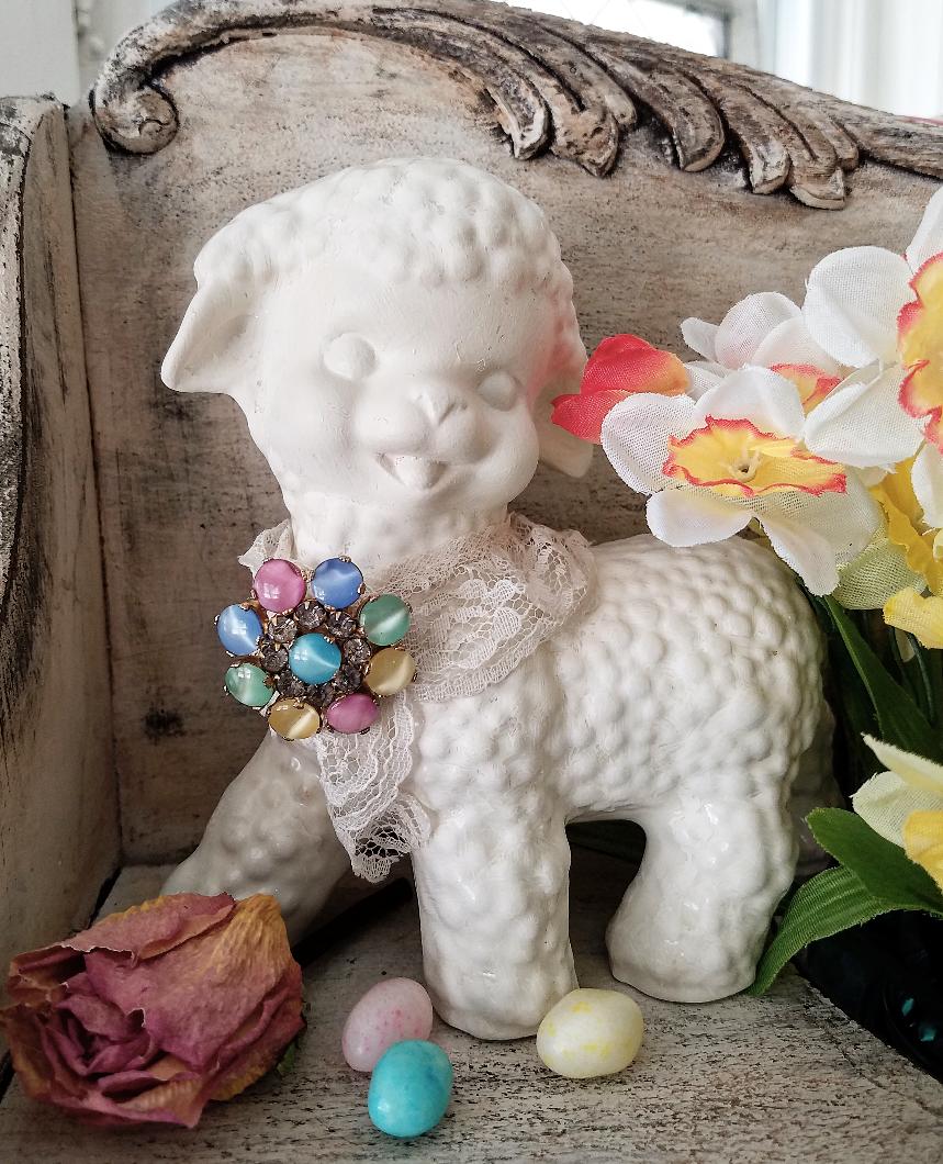 Vintage Easter Joys Vintage Ceramic Lamb