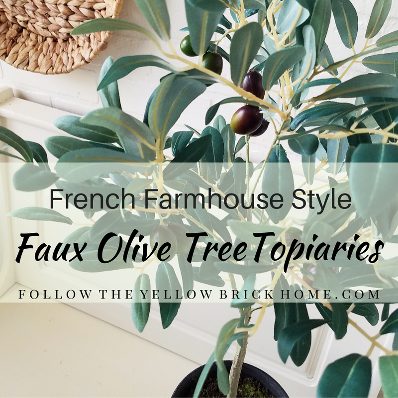faux olive tree topiaries