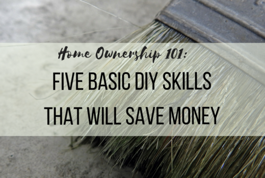 FIve Basic DIY skills that save money