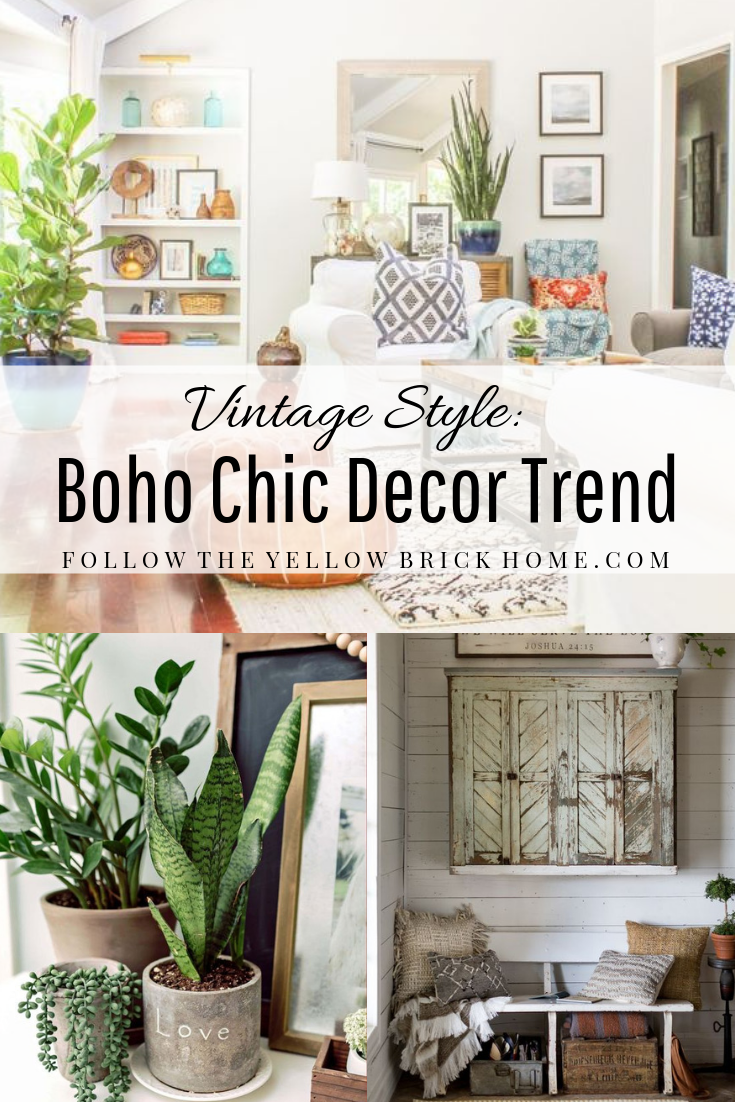 Boho Chic mix of vintage and modern design elements boho decor